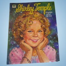 Shirley Temple uncut paper doll book!