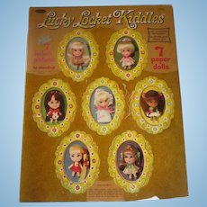 Rare Mattel  Liddle Kiddle Locket Paper dolls uncut booklet 1967 photo