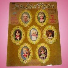 Rare Mattel  Liddle Kiddle Locket Paper dolls uncut booklet 1967 photo