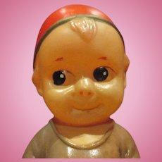 """Celluloid shy boy doll adorable no damage 5.5"""" tall."""