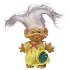 "Vintage Wishnik Uneeda Artist Troll Doll 6"" original outfit."