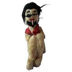 Groovy 1960's Rare Beatnik Hippie era stuffed smoking man toy Ka-Klar company
