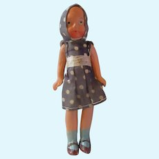 "Composition small Dollhouse girl mom Japan polka dots 5"" strung"