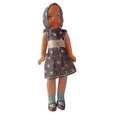 "Composition small Dollhouse girl mom Japan polka dots 5"" strung"