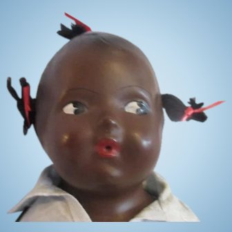 Madame Hendren Whistler composition doll black baby original tag clothes Patent Feb 1926