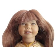 "Original Heidi Ott funny freckle face vinyl doll in  original box 12"" human hair"