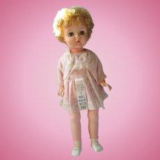 "1960 Uneeda Bobby Jo walker doll all original 23"" pretty"