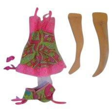 "Vintage 1968 FRANCIE doll outfit complete ""Underliners"" #1821 Barbie"