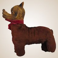 Unknown old rubber faced WOLF toy Little Red Riding hood pal vintage old 1940's