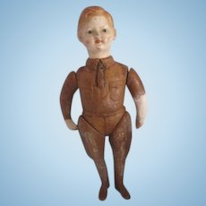 """Ideal """"LIBERTY BOY"""" WWI military jointed composition s US Army doll c.1918 TLC"""