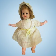 "1951 Baby Ruth Ideal Doll, Oil cloth Body, Vinyl, Blonde 16.5"""