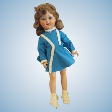 """Beautiful Sonja Henie doll composition doll 18"""" gorgeous Madame Alexander ice skating Olympian"""