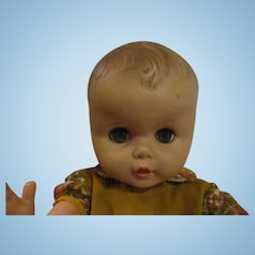 "19"" Playpal style boy baby doll large cranium Marked 20-J-20-5  vinyl plastic"