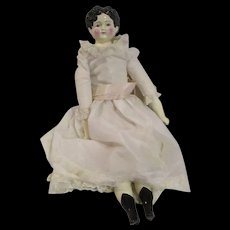 """1986 Large China head doll signed by artist 27"""" very nice condition"""