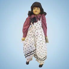 """Robert Raikes Wooden doll 17"""" Abigail gorgeous on stand signed"""