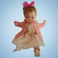 RARE Hard to find Thumbelina doll 1966 by IDEAL with Tabatha Bewitched face honey blonde working knob