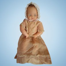 "Vintage MISS PEEP doll in antique dress pretty Cameo jointed vinyl doll 18"" Baby Wendy"