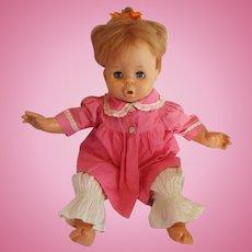 "1963 Mattel Baby Pattaburp doll 16"" sad face"