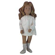 """16"""" Sasha Vinyl Doll  # 101S  Sasha Honey Blonde Hair w/White Silk Dress issue 1982"""