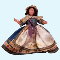Gorgeous Old Celluloid European lady of the house doll