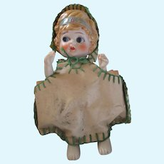 Vintage Frozen Charlotte betty boop doll in vinyl outfit Japan