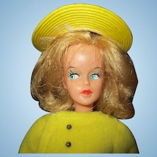 American Character High Fashion Tressy doll in lemon yellow outfit