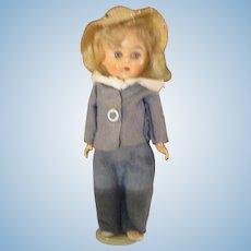 Vintage Blonde Muffie, Ginger, Pam doll 1950's walker Ginny friend