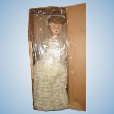 "Original Deluxe Doll Company BONNIE BRIDE 25"" tall elaborate lace gown in box"