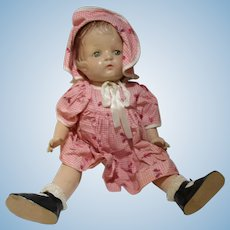 All composition original Patsy style baby doll 1940's in original outfit 17""
