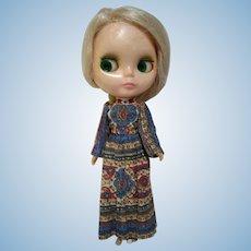 Original 1972 Kenner Blythe Blonde doll working eyes no splits in original dress!