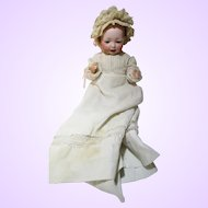 Hertel, Schwab & Co, mold 142, doll with baby composition bent knee body