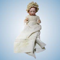 Hertel, Schwab & Co, mold 142, doll with baby composition bent knee body
