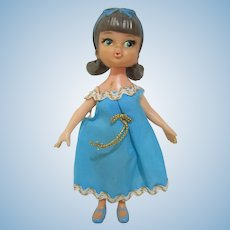 """Vintage Darling Dolly Darling doll liddle kiddle era 1965 Hasbro 4-1/2"""" KAREN"""