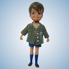 "Vintage 1965 Hasbro Dolly Darling miniature boy doll 4-1/2"" Kiddle era JOHN"