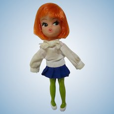 Adorable unknown Dolly Darling red hair by Hasbro 1967 super cute kiddle era