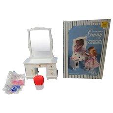 Vintage MIB Vogue Ginny doll vanity desk with stool 1978