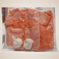 1963 Remco Judy Littlechap original tagged Pajamas plus slippers outfit