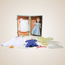 """Vintage Sweet Sue 14.5"""" doll with wardrobe and case"""