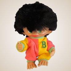 "1965 Unica Monkey Boy Troll doll made in Belgium 8"" hilarious!"