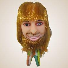 1960's hairy hippie mod mini doll keychain MIP groovy dude retro Kiddle era