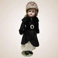 """Vintage unknown antique doll in original clothing 17"""""""