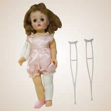 Madame Alexander Marybel Gets well doll with cast and crutches