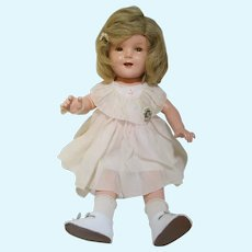 """Vintage IDEAL Shirley Temple doll with original tagged dress and pin 20"""""""