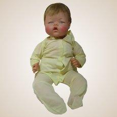 "20"" Baby Thumbelina doll still wiggles so cute! 1960's marked OTT-19 IDEAL doll"