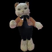 RARE 1930's Merrythought Slumber Cat mohair expressive kitten all original gorgeous