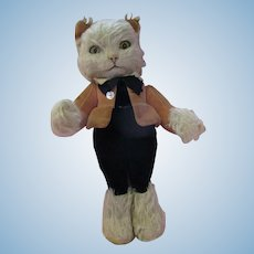 RARE 1930's Merrythought Slumber Cat mohair expressive kitten all original gorgeous