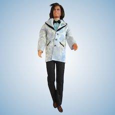 1974 Mod Ken doll wearing fashio 7836 Ken Get ups ' n Go Bridegroom tuxedo brocade blue