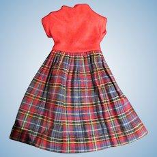 Tagged original Vogue Dolls Jill plaid and red school dress