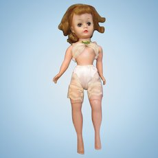 "Vintage Cissette Madame Alexander 9"" beauty in undergarments"