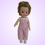 """Effanbee original 1965 Fluffy doll in cute play suit with shoes 8.5"""" tall"""
